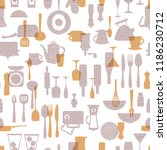 pattern of the kitchen utensil  ... | Shutterstock .eps vector #1186230712