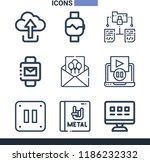 set of 9 multimedia outline... | Shutterstock . vector #1186232332