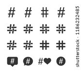 vector image set of hashtag... | Shutterstock .eps vector #1186232485