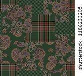 paisley patchwork pattern    | Shutterstock .eps vector #1186233205
