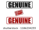 genuine red and black text... | Shutterstock .eps vector #1186234255