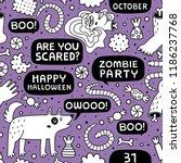 halloween seamless pattern.... | Shutterstock .eps vector #1186237768
