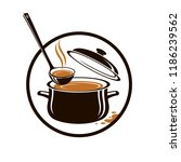 collection of pan  soup and... | Shutterstock .eps vector #1186239562