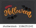 happy halloween hand sketched...   Shutterstock .eps vector #1186251142