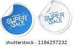 super sale stickers | Shutterstock .eps vector #1186257232