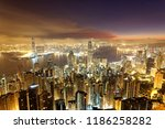 scenery of hong kong before... | Shutterstock . vector #1186258282