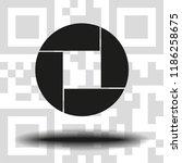 aperture  camera lens symbol | Shutterstock .eps vector #1186258675