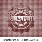 bumper red geometric badge.... | Shutterstock .eps vector #1186260418
