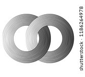 black concentric lines with... | Shutterstock .eps vector #1186264978