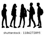 vector silhouettes of men and... | Shutterstock .eps vector #1186272895