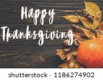 happy thanksgiving concept ... | Shutterstock . vector #1186274902