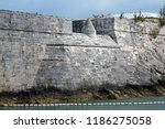 coral block walls of the royal... | Shutterstock . vector #1186275058