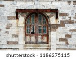 dilapidated double windows  of... | Shutterstock . vector #1186275115