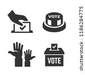 vector vote icon with voter... | Shutterstock .eps vector #1186284775
