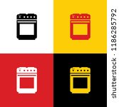 stove sign. vector. icons of... | Shutterstock .eps vector #1186285792