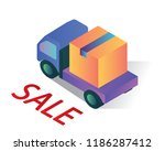 delivery package isometric... | Shutterstock .eps vector #1186287412