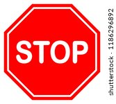 stop sign icon vector... | Shutterstock .eps vector #1186296892