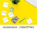 student's schedule. notepaper... | Shutterstock . vector #1186297462
