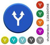 split arrows up round color...   Shutterstock .eps vector #1186304548