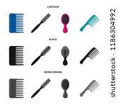 vector design of brush and hair ... | Shutterstock .eps vector #1186304992