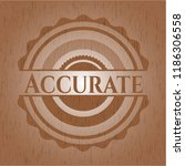 accurate wood emblem. vintage. | Shutterstock .eps vector #1186306558