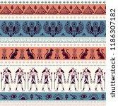 vector tribal ethnic seamless... | Shutterstock .eps vector #1186307182