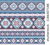 indian rug tribal ornament... | Shutterstock .eps vector #1186307188