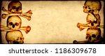 grunge halloween background... | Shutterstock . vector #1186309678