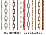 collection of  various rope and ... | Shutterstock . vector #1186313632