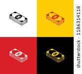 bank note dollar sign. vector.... | Shutterstock .eps vector #1186314118