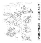 winter sport. vector sketch...   Shutterstock .eps vector #1186315375