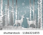 minimalism of winter season and ... | Shutterstock .eps vector #1186321855