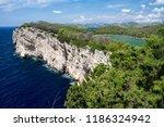 Cliffs in national park Telascica, Adriatic sea, Croatia, summer
