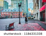 old state house and financial... | Shutterstock . vector #1186331338