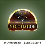 gold shiny badge with ninja... | Shutterstock .eps vector #1186331845