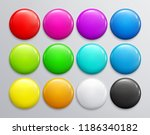 big set of colorful glossy... | Shutterstock .eps vector #1186340182