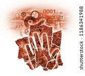 digital dementia burnout... | Shutterstock . vector #1186341988