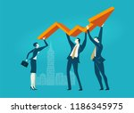 business team holding up arrow  ... | Shutterstock .eps vector #1186345975