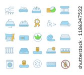 mattress color icons set. latex ... | Shutterstock .eps vector #1186347532