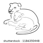 family of lions. lioness and a... | Shutterstock .eps vector #1186350448