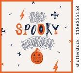 hallowen typograhy set.... | Shutterstock .eps vector #1186355158