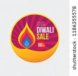 diwali festival big sale... | Shutterstock .eps vector #1186355578