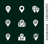 placeholder icon set.... | Shutterstock .eps vector #1186356592