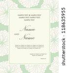 damask wedding invitation... | Shutterstock .eps vector #118635955