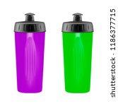 plastic shaker on white... | Shutterstock .eps vector #1186377715
