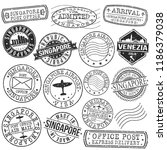 singapore asia stamp vector art ... | Shutterstock .eps vector #1186379038