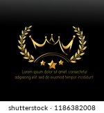 vector luxury sign gold crown.... | Shutterstock .eps vector #1186382008
