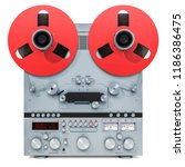 retro reel to reel tape... | Shutterstock . vector #1186386475