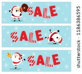 cute christmas sale banners... | Shutterstock .eps vector #1186386595