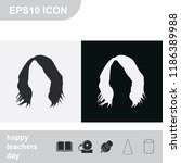 shaggy hairstyle silhouette.... | Shutterstock .eps vector #1186389988